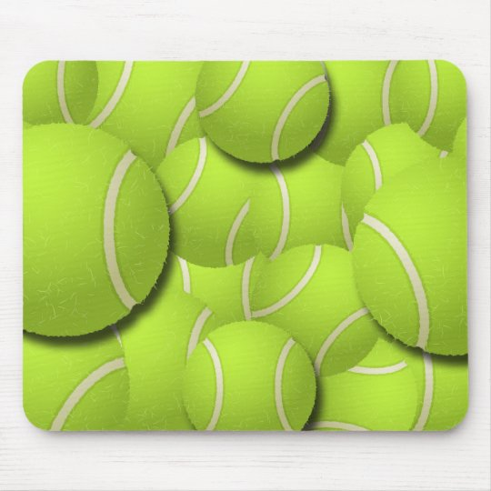 TENNIS BALL COLLAGE MOUSE MAT