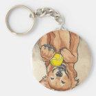 Tennis Ball Fun Golden Retriever Dog Art Key Ring