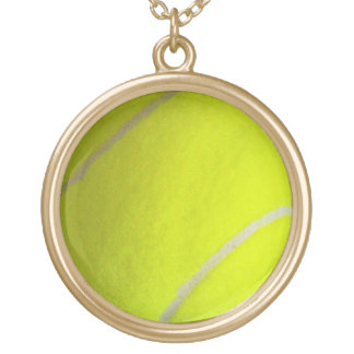 Tennis Ball Gold Plated Necklace