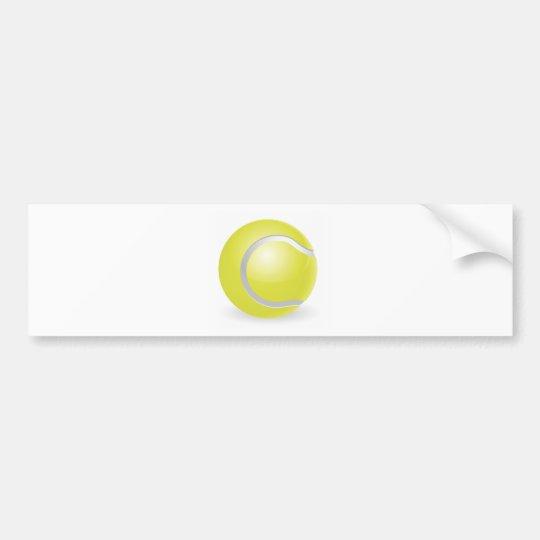 Tennis ball illustration bumper sticker