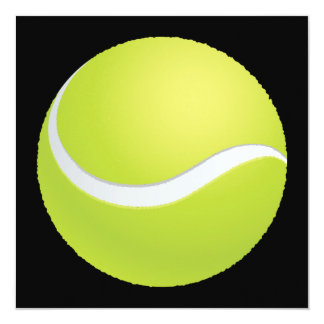 Tennis Ball Invitation