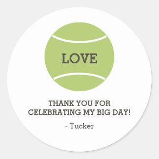 Tennis Ball Love Sticker