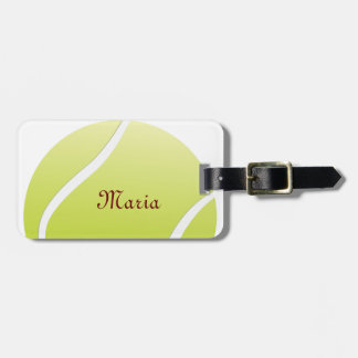 tennis ball luggage tag