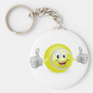 Tennis Ball Mascot Keychains