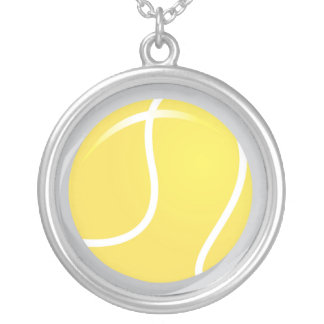 Tennis Ball Necklace Pendant