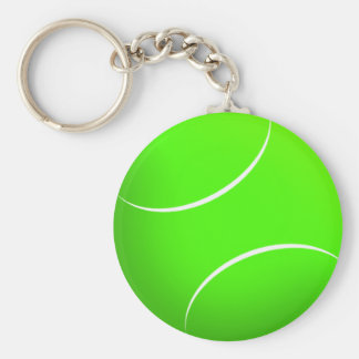 Tennis Ball Novelty - Customized Basic Round Button Key Ring