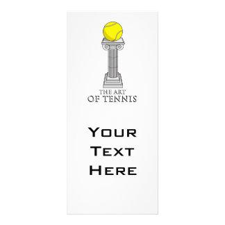 tennis ball on a pedestal art customized rack card