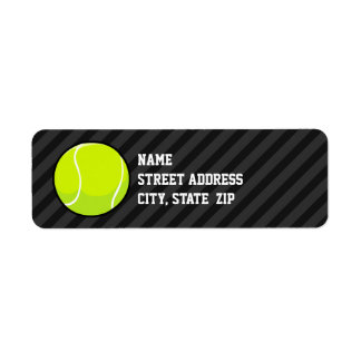 Tennis Ball on Black & Dark Gray Stripes