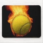 Tennis Ball On Fire Mousepad