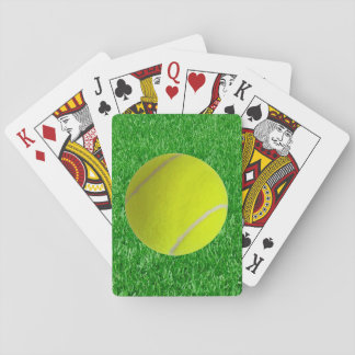Tennis Ball On Grass Playing Cards