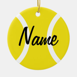 Tennis ball ornament for Christmas tree