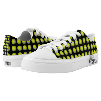 Tennis_Ball_Pattern_Low_Top_Zipz_Unisex_Sneakers. Printed Shoes
