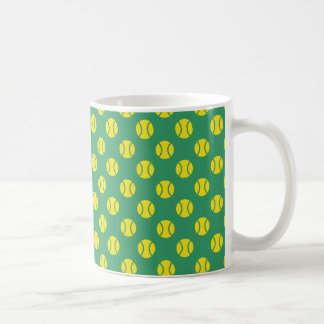 Tennis ball pattern mug | Custom background color