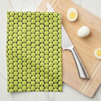 Tennis Ball Pattern w/Black Back Kitchen Towel