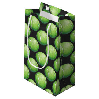 Tennis Ball Patterns Small Gift Bag