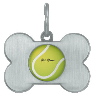 Tennis Ball Pet Name Template Pet Tag