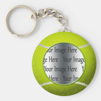 tennis ball photo basic round button key ring