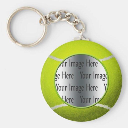 tennis ball photo basic round button key ring