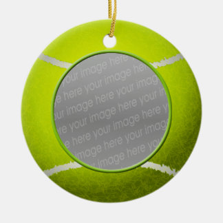Tennis ball photo ornament