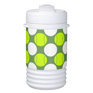 Tennis Ball Polka Dot Pattern Cooler
