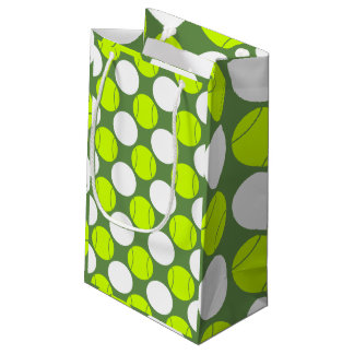 Tennis Ball Polka Dot Pattern Small Gift Bag