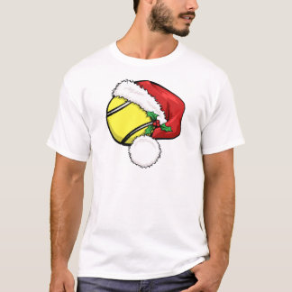 Tennis Ball Santa Cap T-Shirt