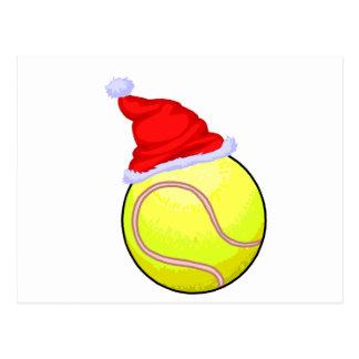 Tennis Ball (Santa Hat) Postcard