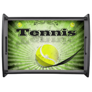 Tennis ball serving tray