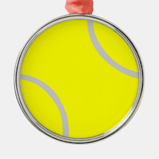 Tennis Ball Silver-Colored Round Decoration