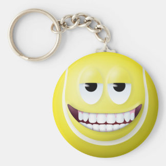 Tennis Ball Smiley Face 2 Key Ring