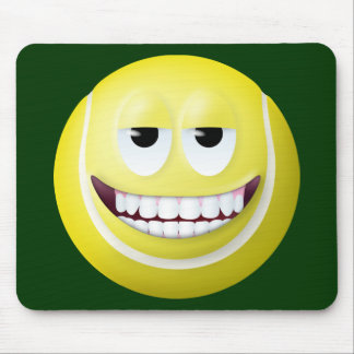 Tennis Ball Smiley Face 2 Mouse Pads