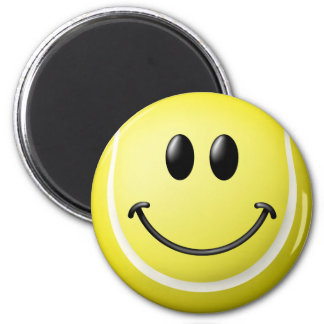 Tennis Ball Smiley Face 6 Cm Round Magnet