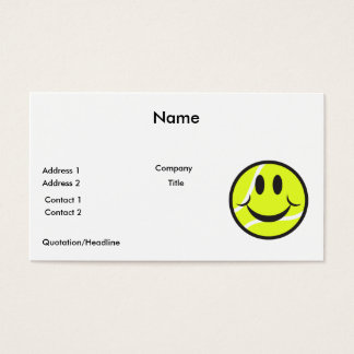 tennis ball smiley face business card