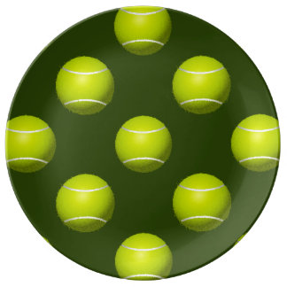 Tennis Ball Sports Porcelain Plates