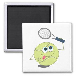 Tennis Ball Square Magnet