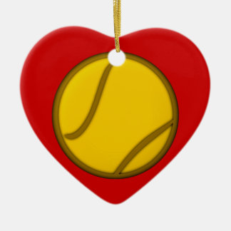 Tennis ball tennis ball christmas ornament