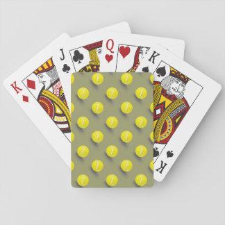 Tennis ball, tennis player playing cards