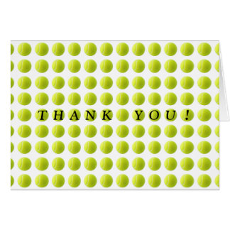 Tennis Ball Thank You Card