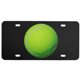 Tennis Ball Theme License Plate