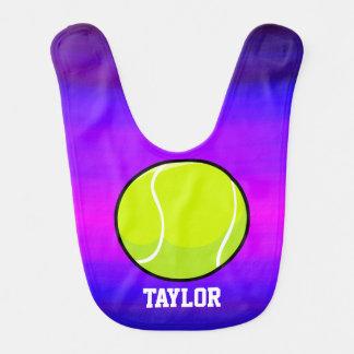 Tennis Ball; Vibrant Violet Blue and Magenta Bib