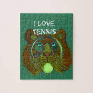 Tennis ball with lion puzzles