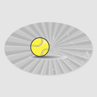 tennis ball with shadow oval sticker