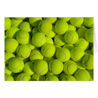 Tennis Balls Note Card
