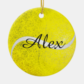 Tennis balls personalized name christmas ornament