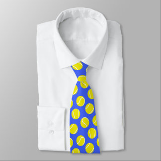 Tennis balls racket sports yellow and blue tie