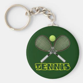 TENNIS BASIC ROUND BUTTON KEY RING