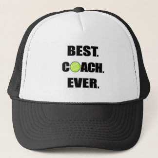 Tennis Best Coach Ever Trucker Hat