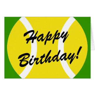 Tennis Birthday Card