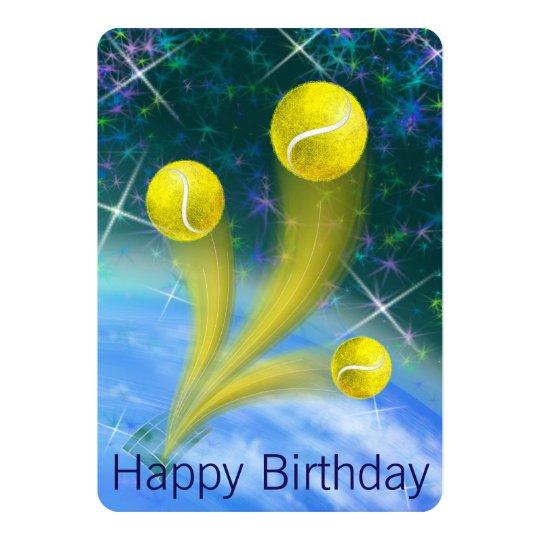 Tennis Birthday party invitation