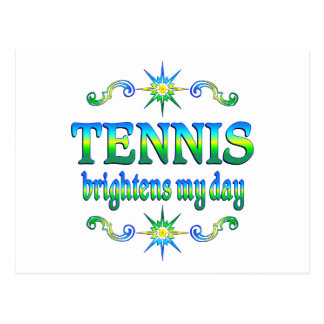 Tennis Brightens Postcard
